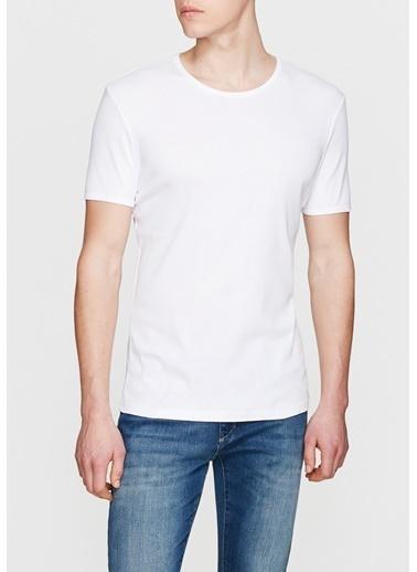 Mavi Basic Tişört Beyaz